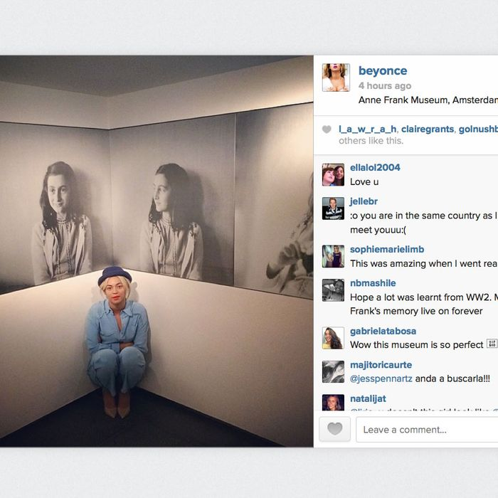 Beyoncé Visits the Anne Frank House — Tactfully