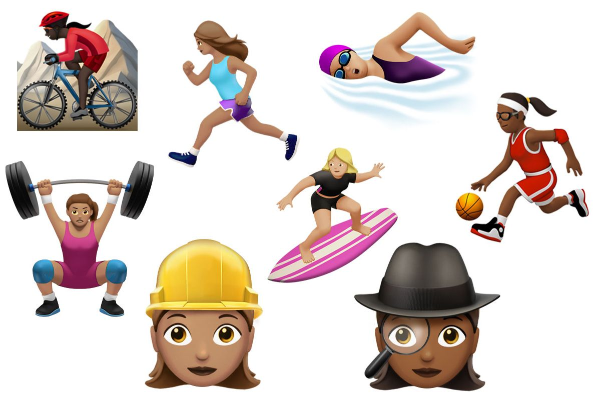 New Emoji Show Women Working and Playing Sports