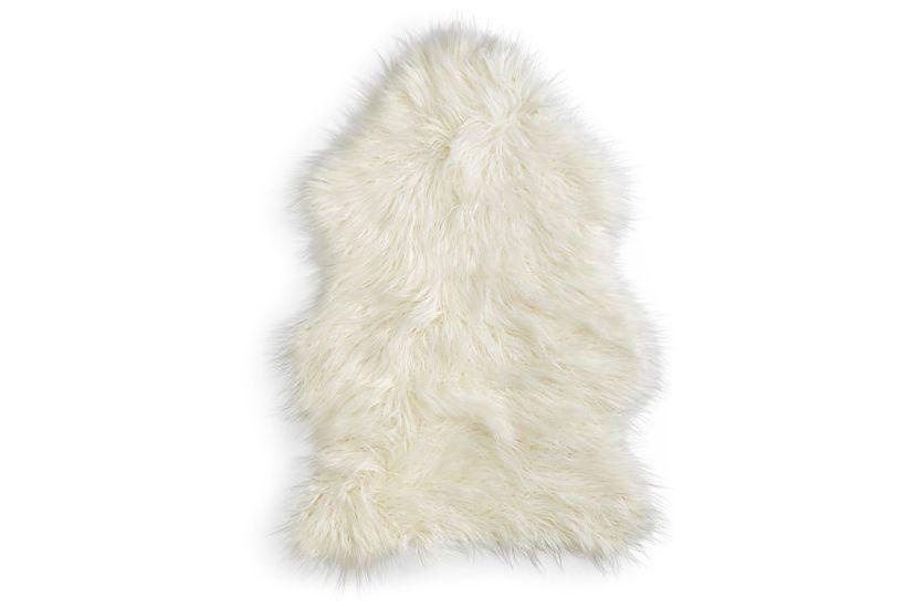 Hudson Park Mongolian Faux Fur Throw