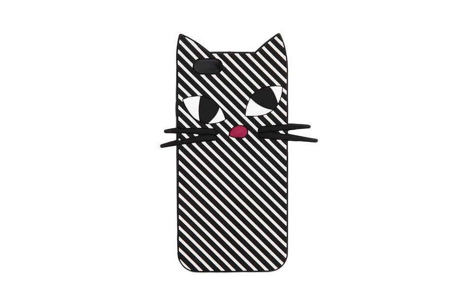 Lulu Guinness Kooky Cat Stripe Phone Case
