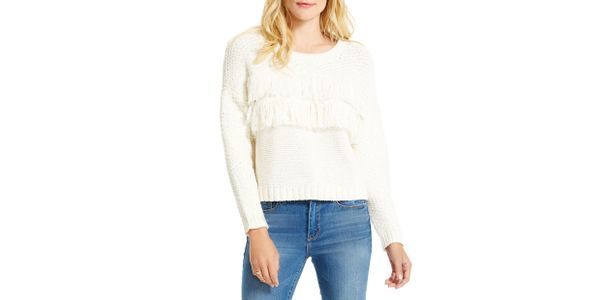 Jessica Simpson Fringed Sweater