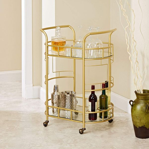Silverwood Sinclair Two-Tier Serving Cart