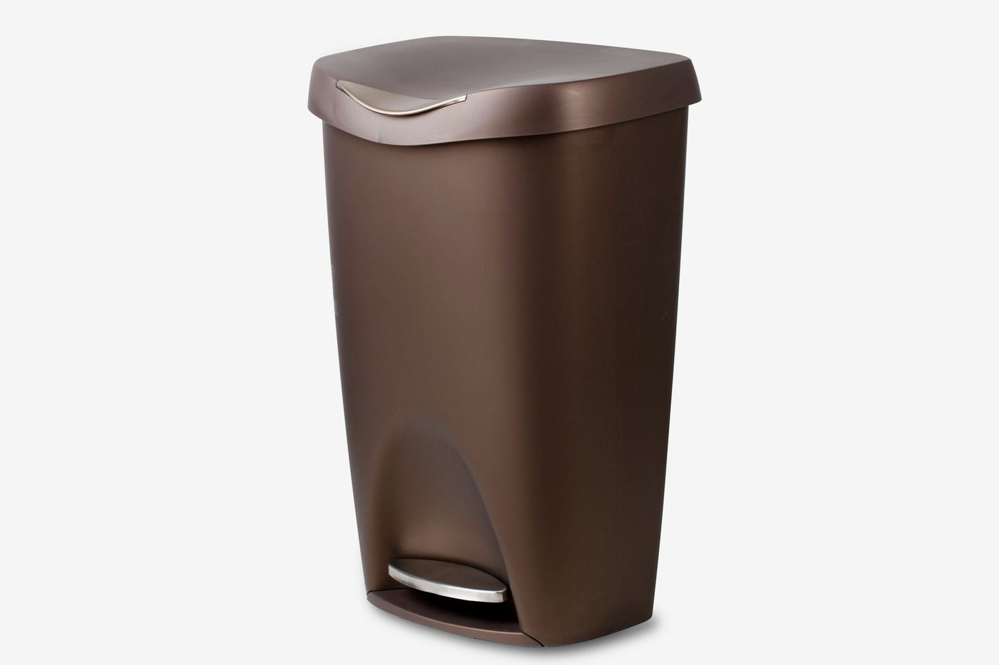 umbra brim large kitchen trash can with stainless steel foot pedal - Stainless Steel Kitchen Trash Can
