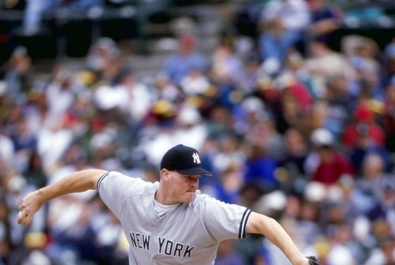 4 Apr 1998:  Pitcher Jeff Nelson of the New York Yankees in action during a game against the Oakland Athletics at the Oakland Coliseum in Oakland, California. The Athletics defeated the Yankees 5-3. Mandatory Credit: Otto Greule  /Allsport