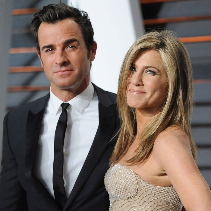 Justin Theroux and Jennifer Aniston.