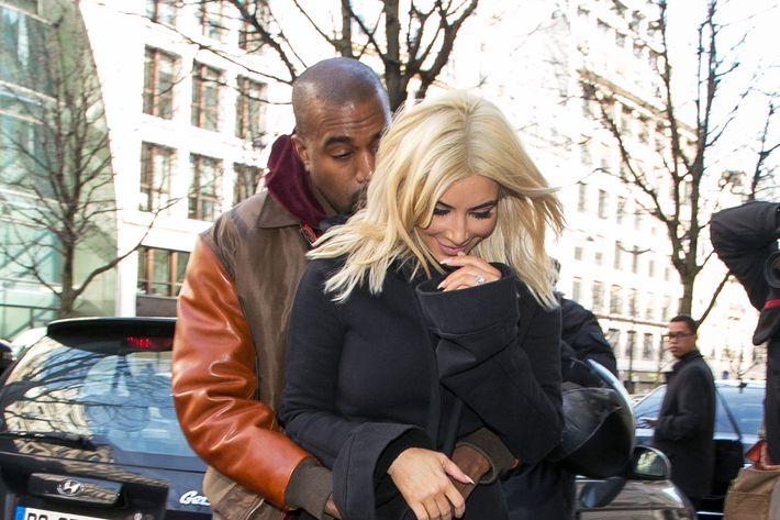 Kim Kardashian West with her husband, Kanye West.