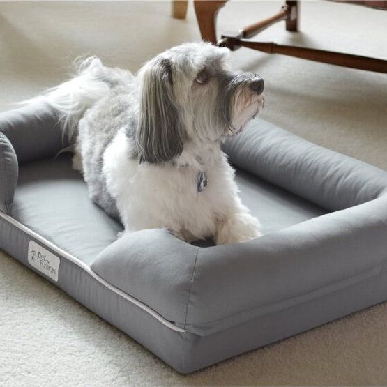 Isaacs Ultimate Dog Bed & Lounge with Orthopedic Memory Foam Bolster