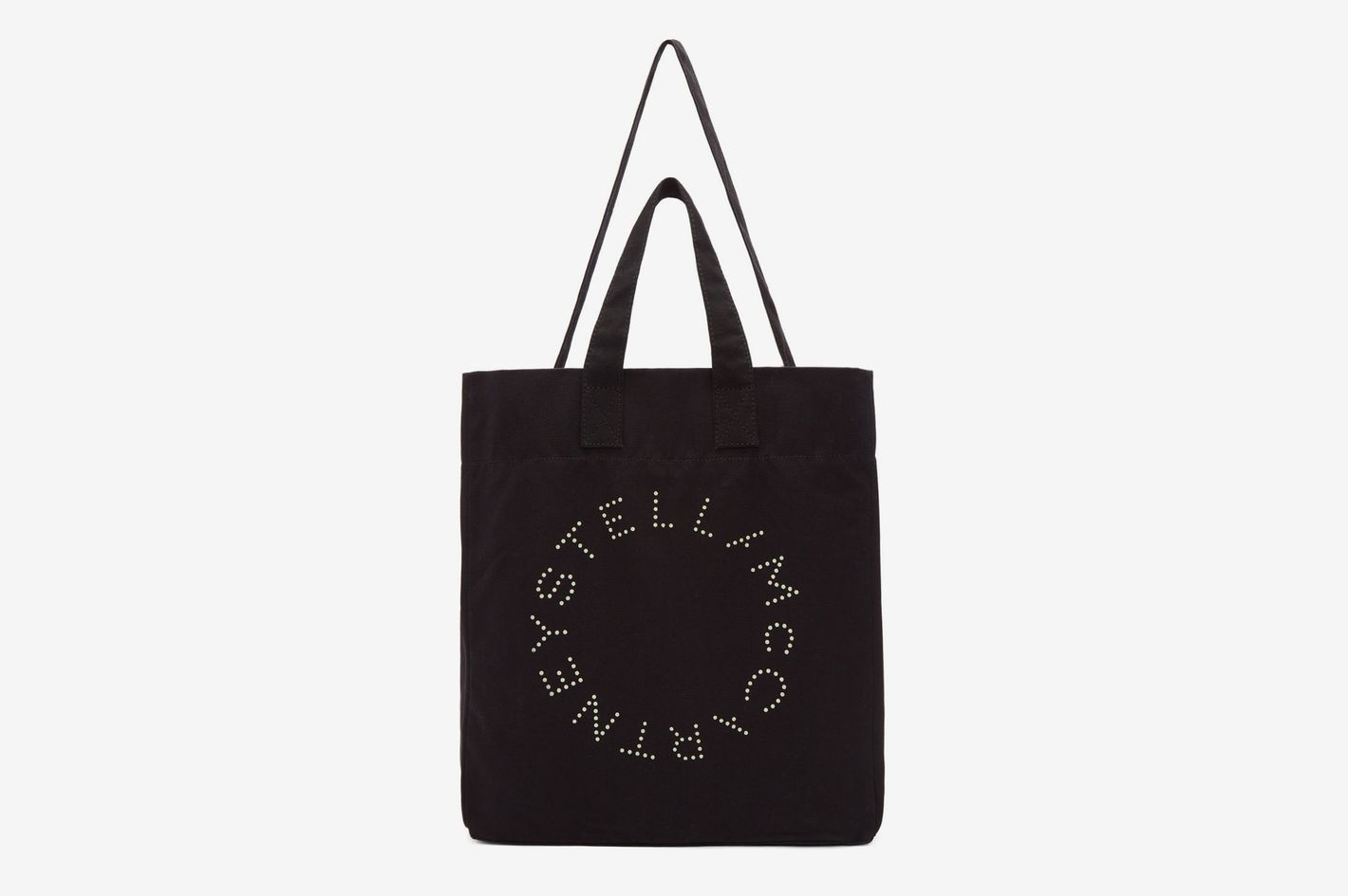 595df0ce0 Best canvas beach bags. Stella McCartney Black Round Logo Beach Tote