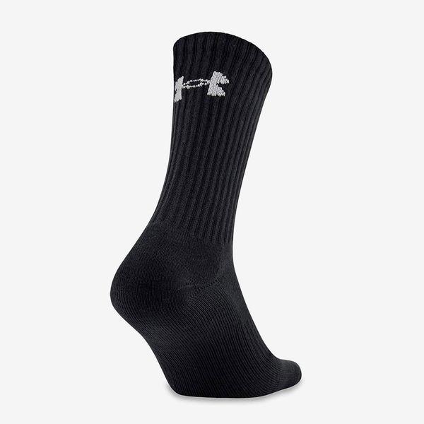 Under Armour Cotton Crew Socks, Black (6 Pairs)