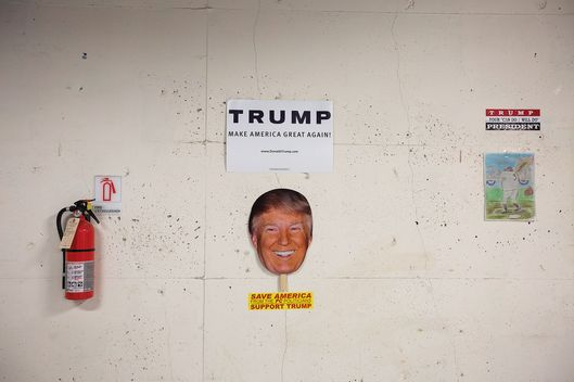 2016 U.S. Presidential Candidate Donald Trump Headquarters And Interview