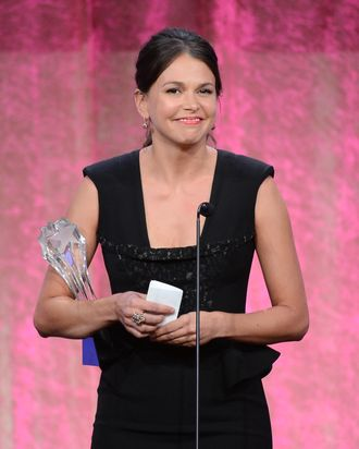 LOS ANGELES, CA - JUNE 10: Actress Sutton Foster onstage during Broadcast Television Journalists Association's third annual Critics' Choice Television Awards at The Beverly Hilton Hotel on June 10, 2013 in Los Angeles, California. (Photo by Mark Davis/Getty Images for CCTA)