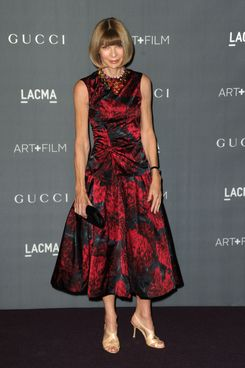 Vogue editor-in-chief Anna Wintour arrives at LACMA 2012 Art + Film Gala at LACMA on October 27, 2012 in Los Angeles, California.