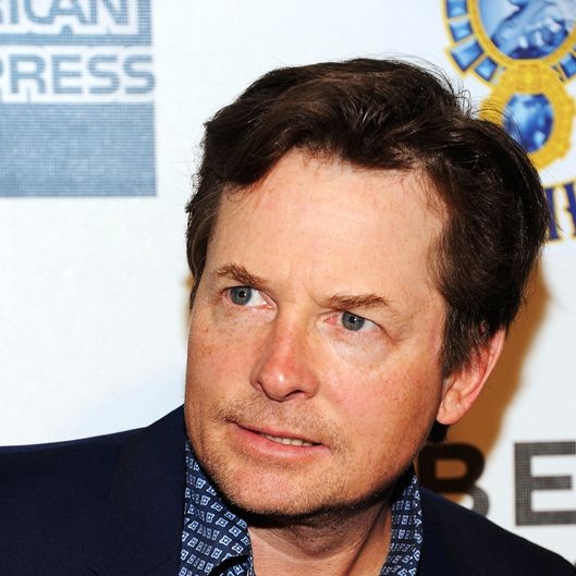 "Actor Michael J. Fox attends the ""Marvel's The Avengers"" Premiere during the 2012 Tribeca Film Festival at the Borough of Manhattan Community College on April 28, 2012 in New York City."
