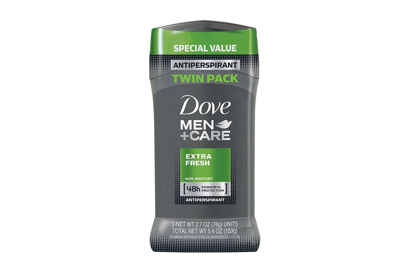 Dove Men+Care Antiperspirant Deodorant Stick, Extra Fresh (Pack of 2)