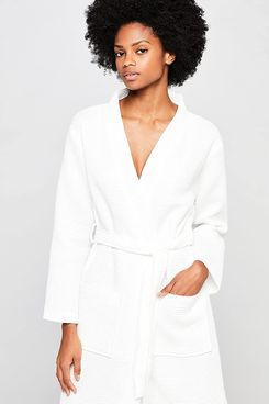 Iris & Lilly Women's Short Terry Towelling Dressing Gown