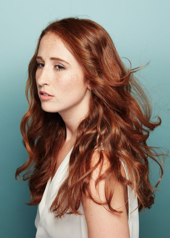 The Secret To This Vibrant Red Is A Heat Free Hair Routine