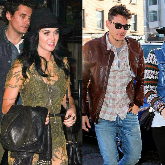 Katy Perry and John Mayer, coordinated.