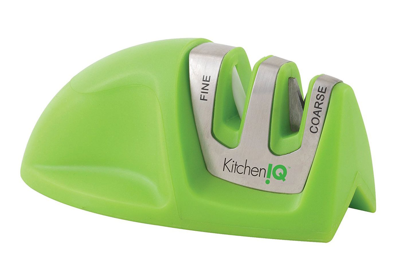 KitchenIQ 50009 Edge Grip 2 Stage Knife Sharpener, Green