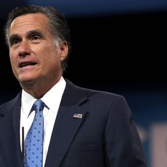 Former Republican presidential candidate and former Massachusetts Governor Mitt Romney delivers remarks during the second day of the 40th annual Conservative Political Action Conference (CPAC) March 15, 2013 in National Harbor, Maryland. The American conservative Union held its annual conference in the suburb of Washington, DC, to rally conservatives and generate ideas.