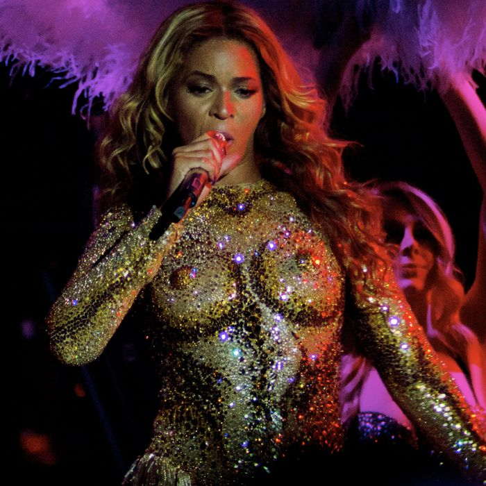 Beyonce's crystallized boobs.