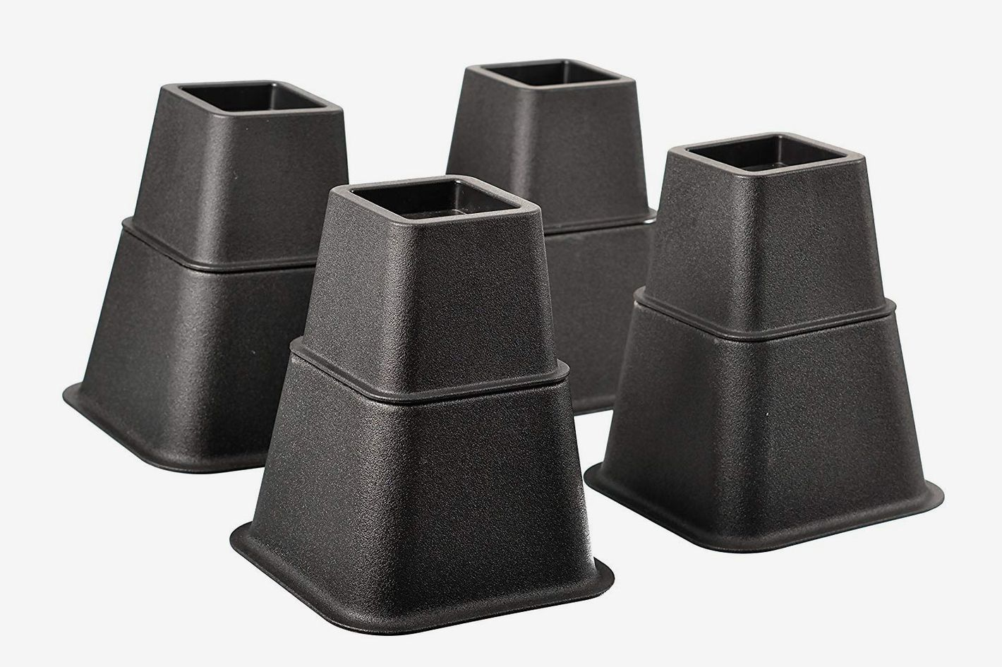 Home-it Adjustable Bed Risers 4-Pack (3in, 5in, 8in)
