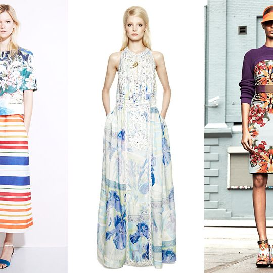 From left: new resort looks from Stella McCartney, Emilio Pucci, and Givenchy.