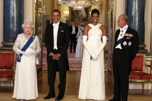 Michelle Obama Wore Tom Ford To A Buckingham Palace