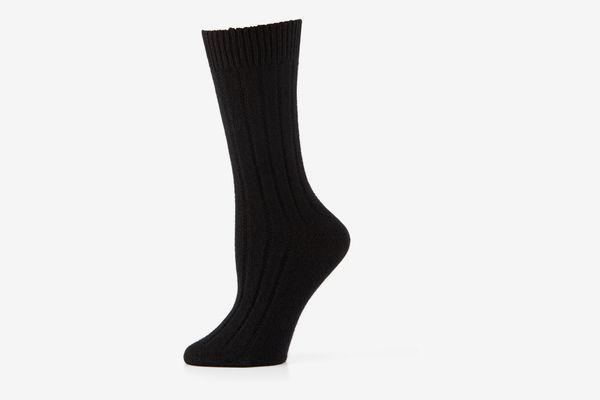 Neiman Marcus Cashmere Ribbed Socks
