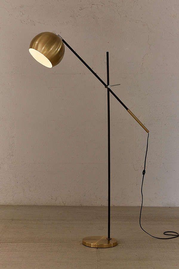 Culver Brass Floor Lamp
