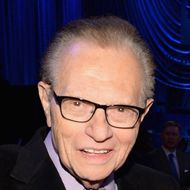 """Larry King and David Spade attend """"Howard Stern's Birthday Bash"""" presented by SiriusXM, produced by Howard Stern Productions at Hammerstein Ballroom on January 31, 2014 in New York City."""