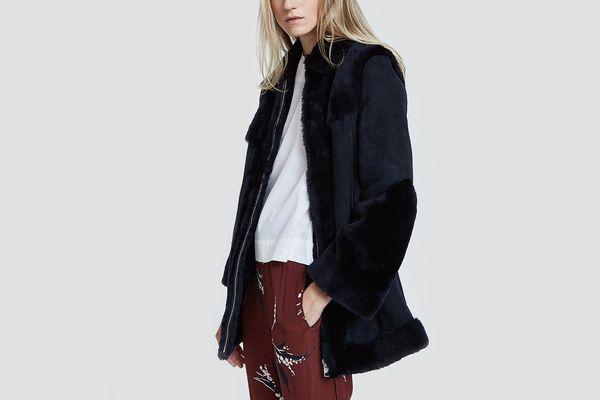 ganni shearling jacket