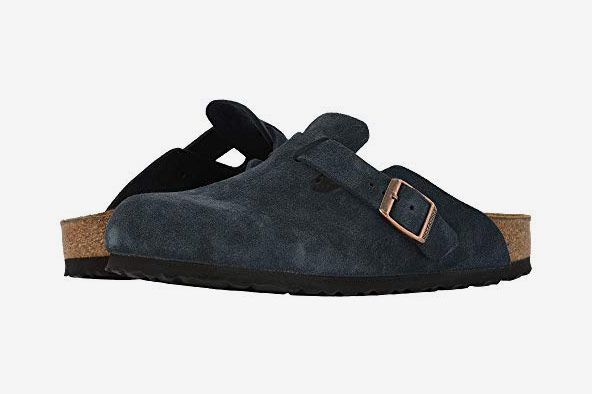 Birkenstock Boston Soft Footbed Navy Suede