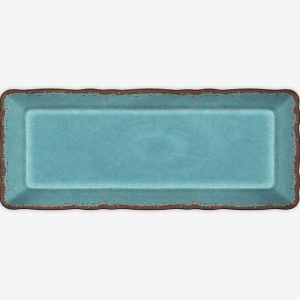 Le Cadeaux Antiqua Baguette Tray, Turquoise