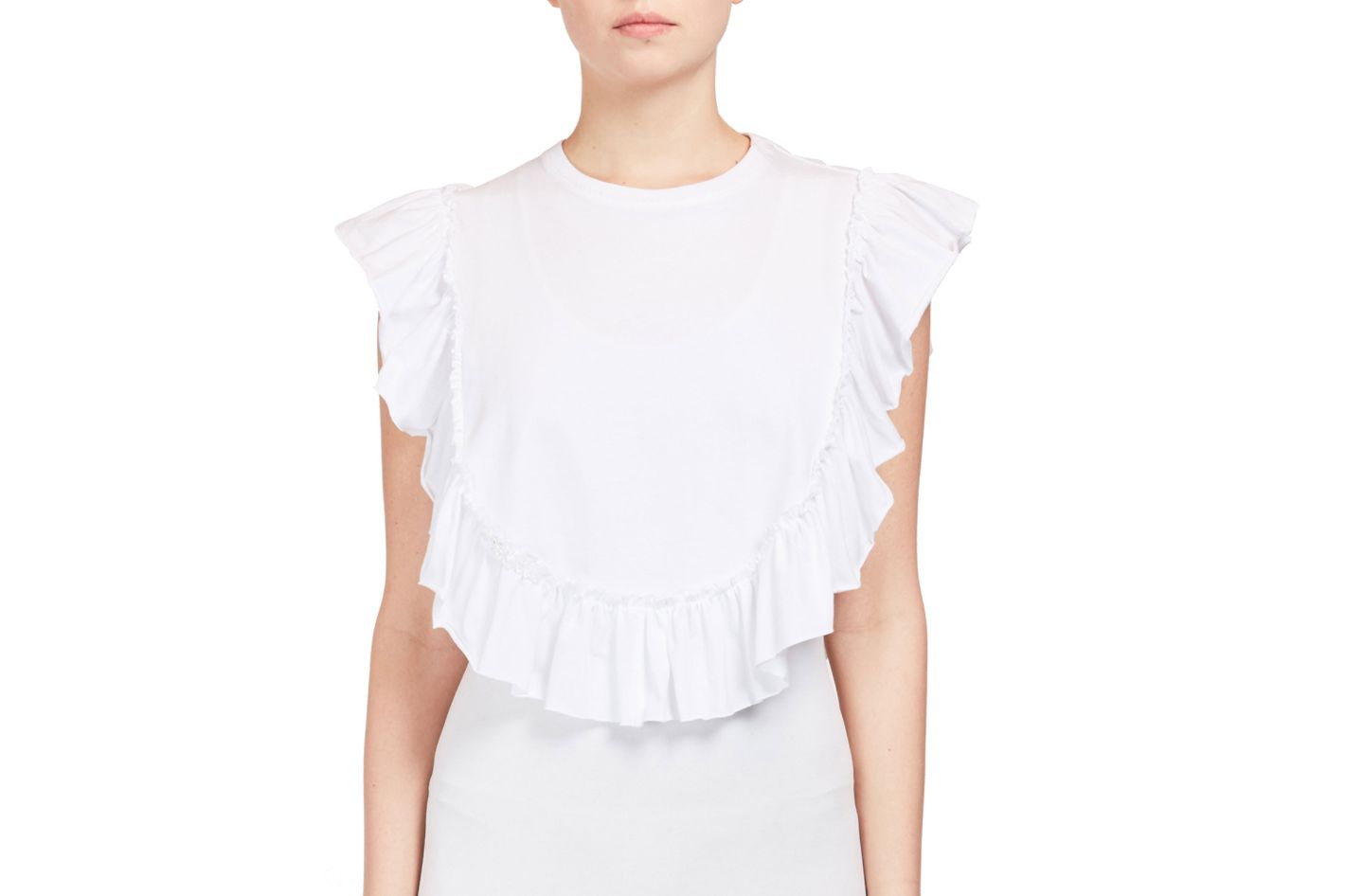 Simone Rocha Ruffled Cotton Bib