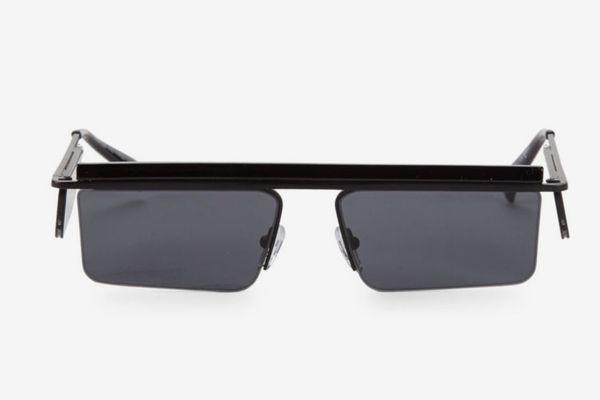 Adam Selman x Le Specs Luxe the Flex Black Satin Sunglasses