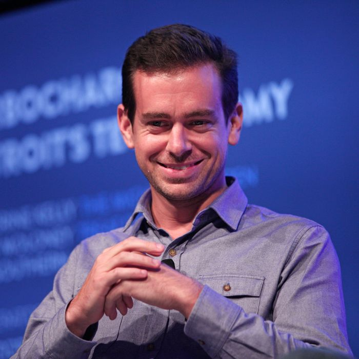 Twitter Chairman and Square CEO Jack Dorsey moderates a panel discussion with Detroit entrepreneurs at Techonomy Detroit at Wayne State University September 17, 2013 in Detroit, Michigan. The topic of the discussion was