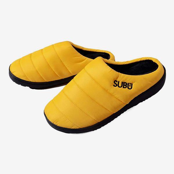 Subu Vibrant Yellow Slippers