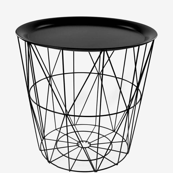 Black Geometrical Tray Top Table