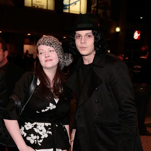 "Musicians Meg White (L) and Jack White attend the ""The White Stripes: Under Great White Northern Lights"" screening held at Elign Theatre during the 2009 Toronto International Film Festival on September 18, 2009 in Toronto, Canada."