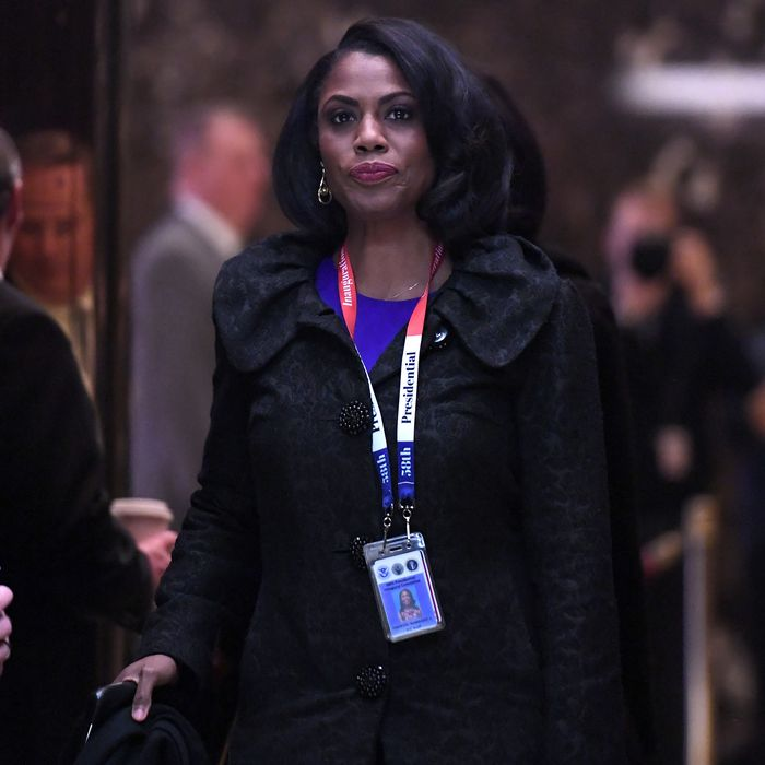 5ff1d55449e2a3 Omarosa Manigault in Trump Tower on January 16