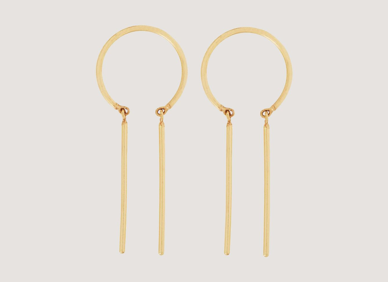 Jack + G Chime Earring in Yellow Gold, Single