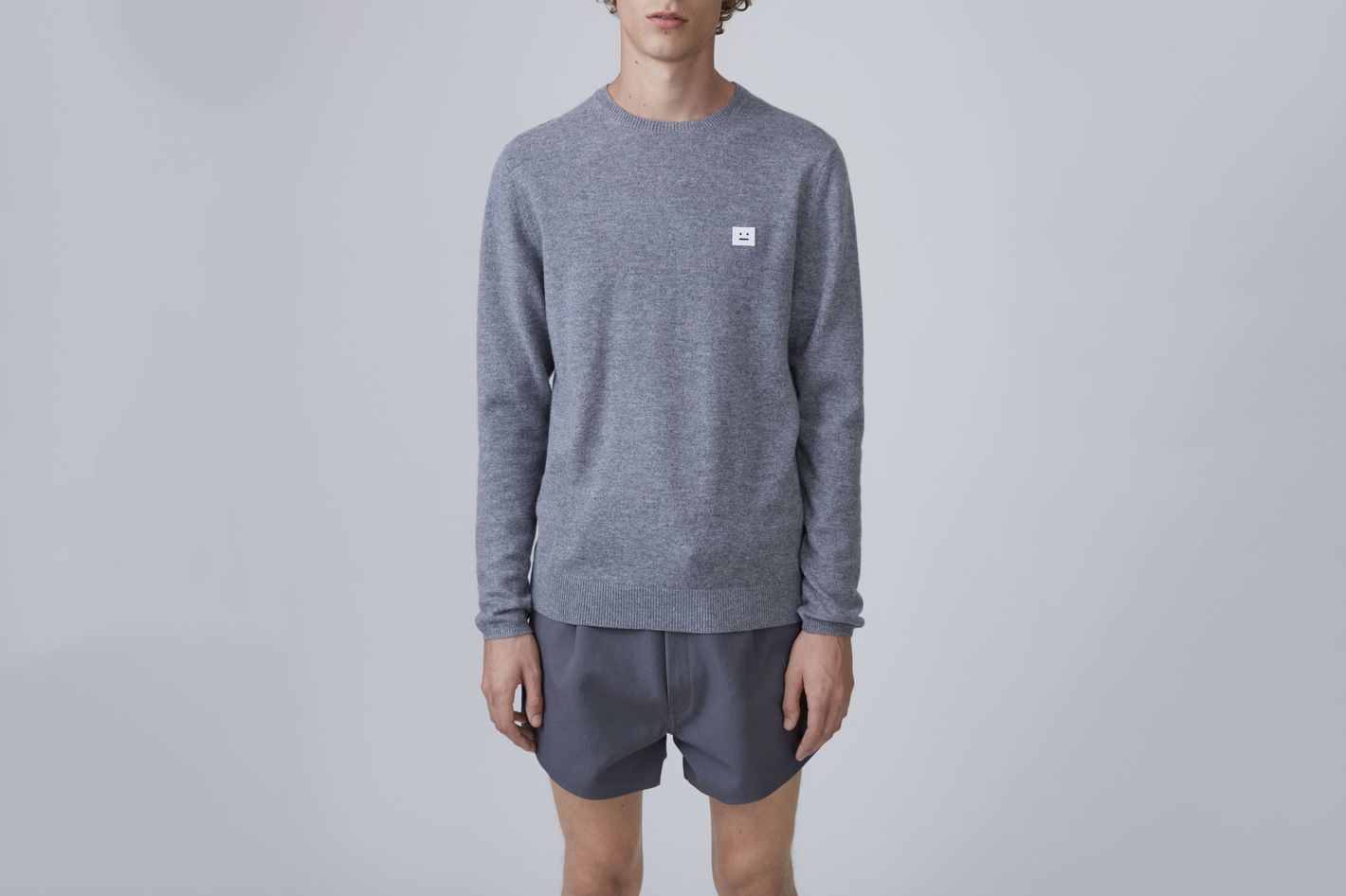 Dasher Face Gray Melange Sweater