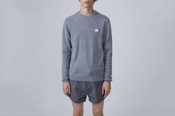 Dasher Face Gray Melange Sweater