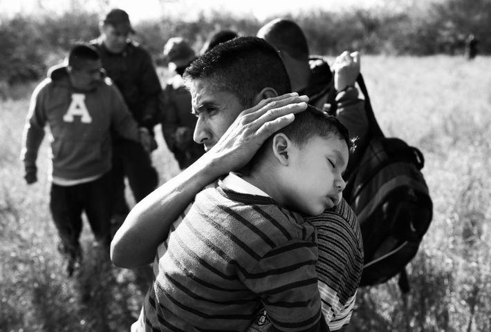 Migrants attempting to cross into the U.S.