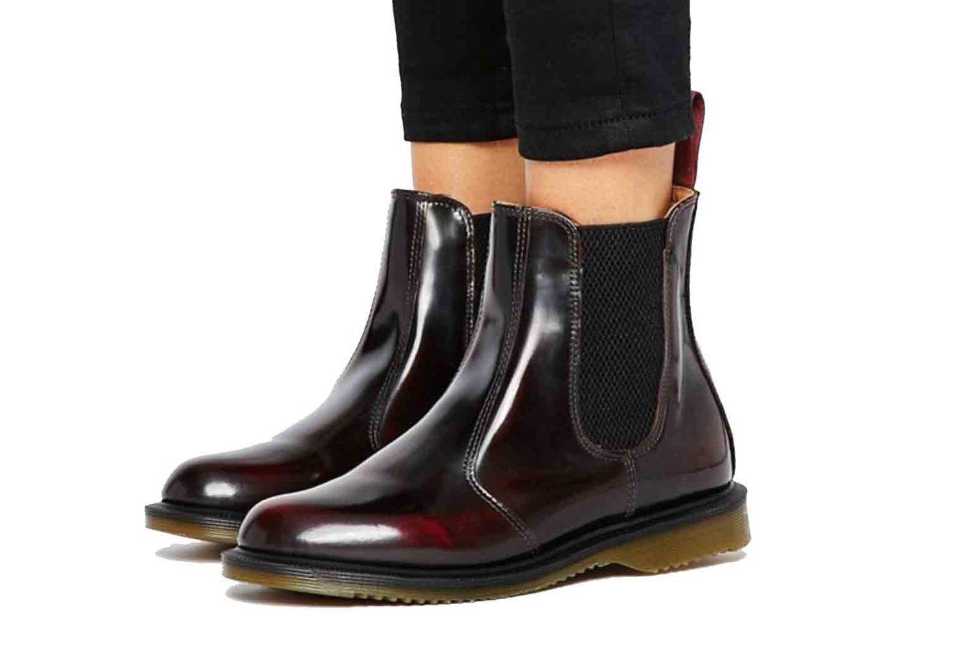 Dr Martens Kensington Flora Burgundy Chelsea Boots