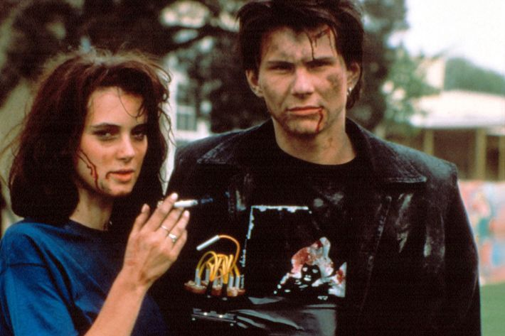 Christian Slater and Winona Ryder from the movie <i>Heathers</i>.