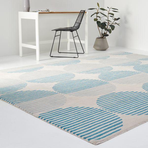 MoDRN Scandinavian Linear Circles Indoor Area Rug