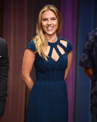 Scarlett Johansson visits