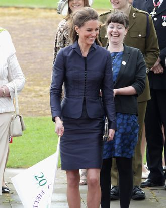 Kate in her Amanda Wakeley outfit yesterday.
