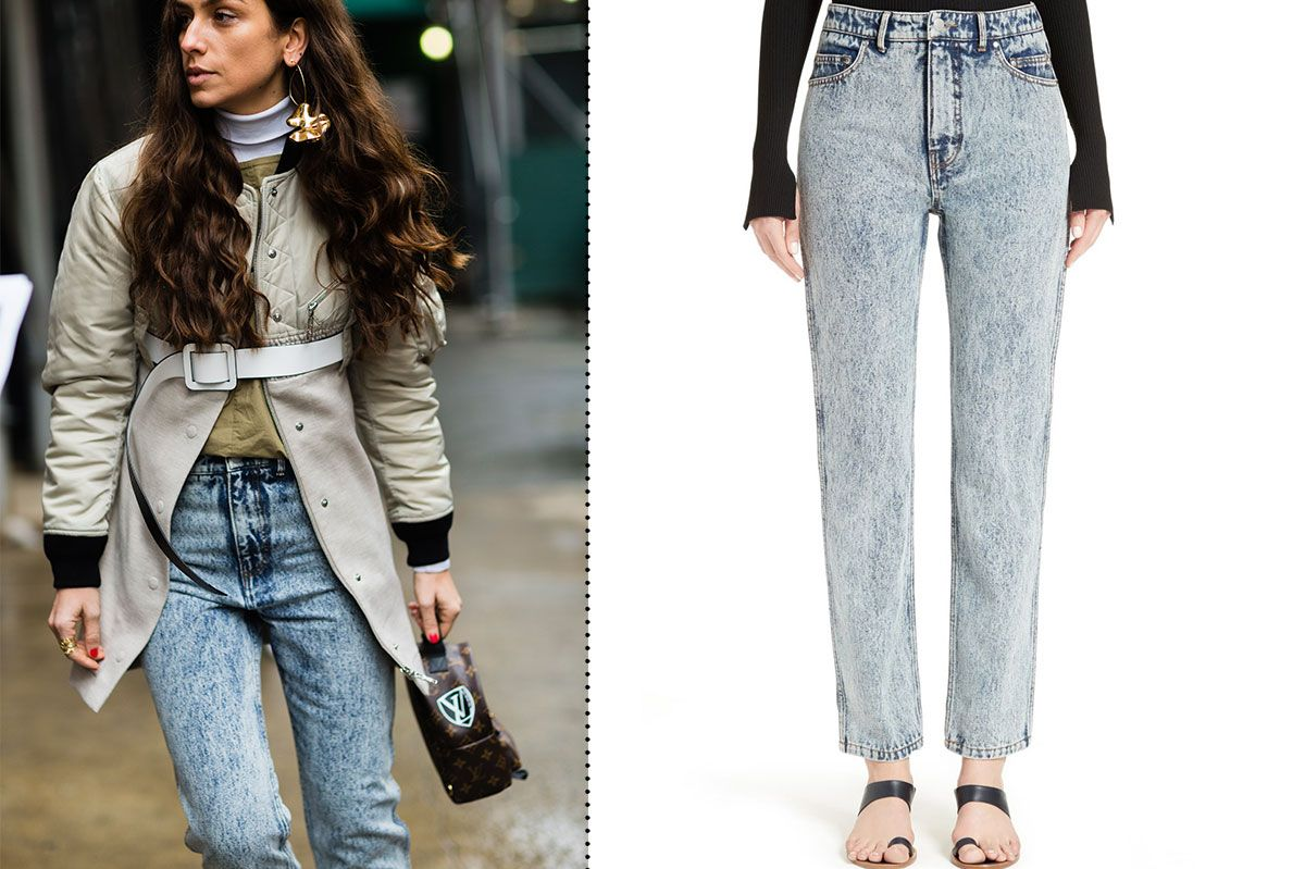 Tibi Trish Acid Wash Jeans